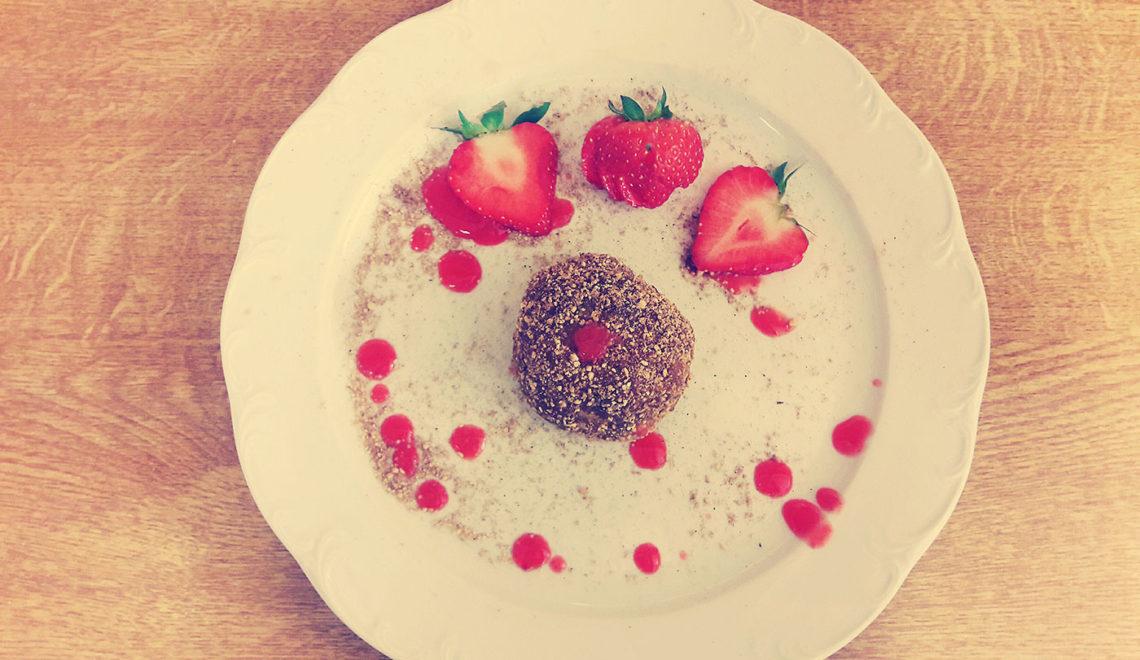 Glutenfreie Erdbeerknödel
